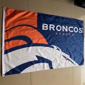5x3 ft broncos nfl football Denver payton manning